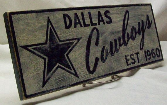 Dallas Cowboys sign by Rt66VintageSigns on Etsy
