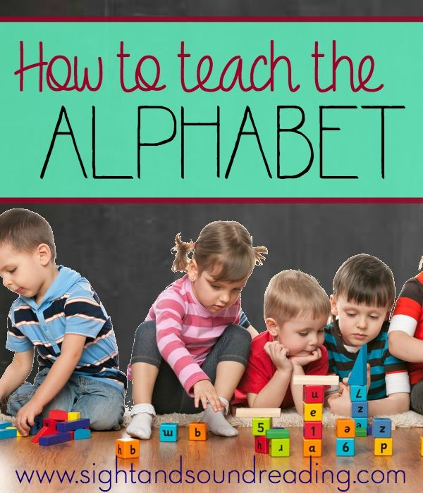How to teach the Alphabet, from Sight and Sound Reading - Teach your Child to read for free!