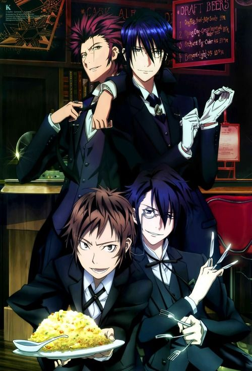 K (K Project) Omg look at Fushimi and his weird little monocle
