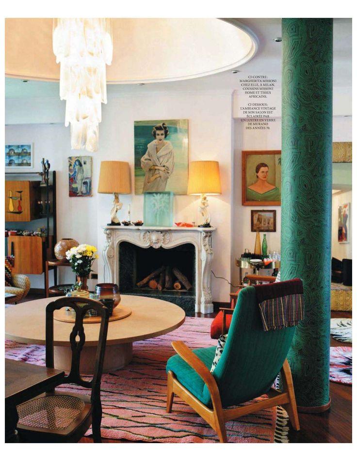 Margherita Missoniu0027s apartment 1068 best Interior Design