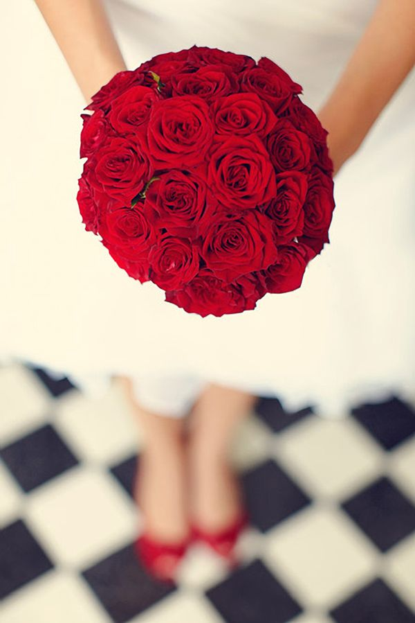 Classic red roses wedding bouquet  Beautifully captured by Silesia Group Photographers