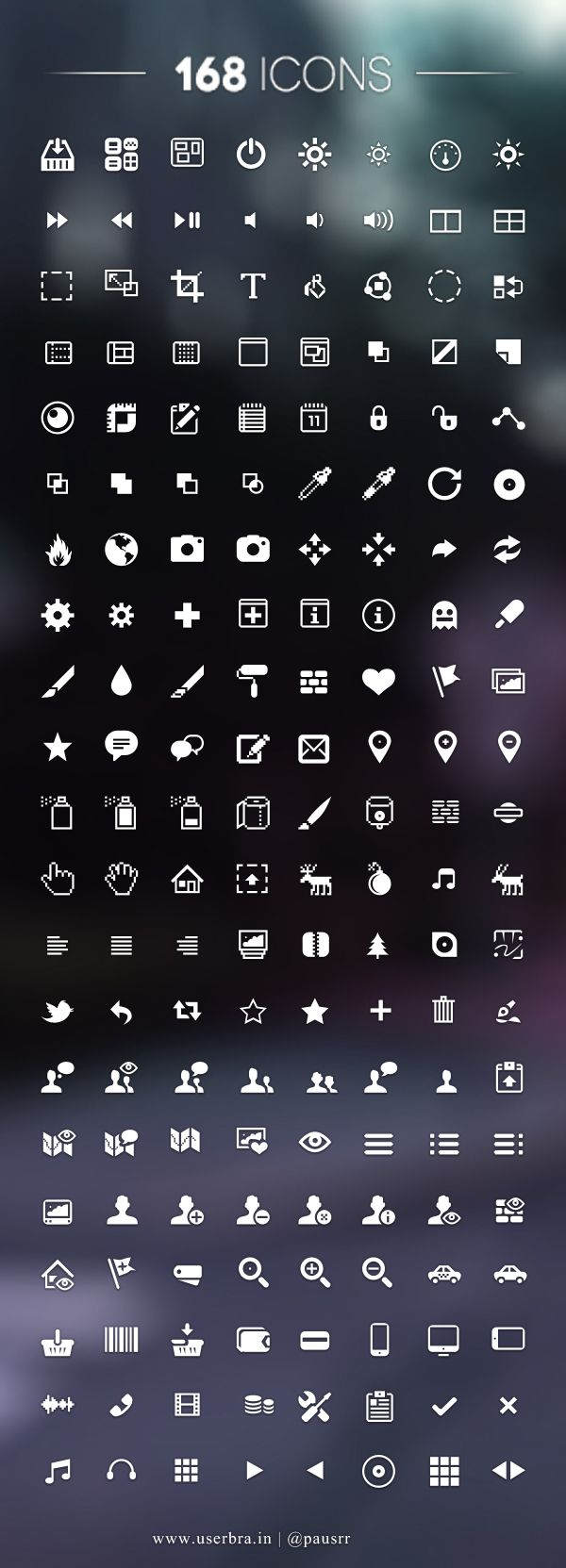 168 Free UI Icons