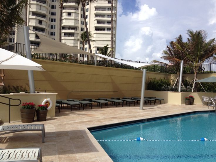 Pool tension structure in Boca Raton, Florida. www.awningresources.com
