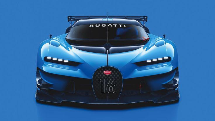 Bugatti Vision Gran Turismo Concept Reveal 2015 Front View
