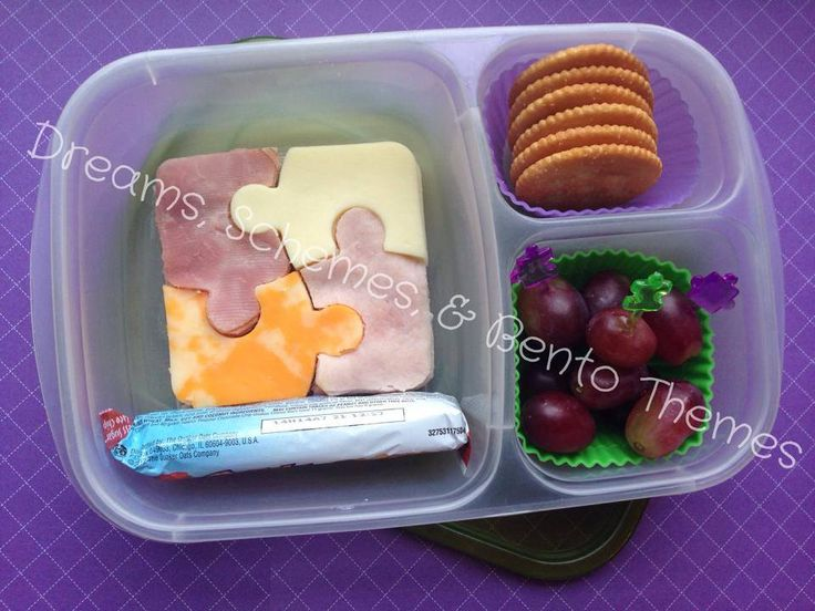 One Puzzling Bento - A DIY Lunchable by Dreams, Schemes, and Bento Themes