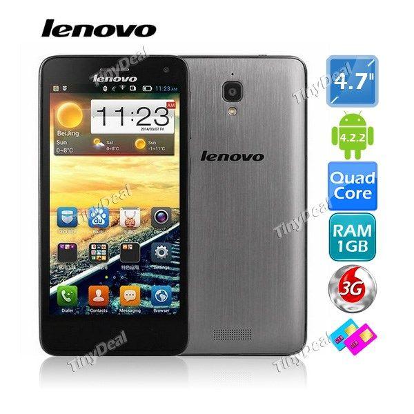 "LENOVO S660 4.7\"" MTK6582 Android 4.2 Quad Core 3G Phone 8MP CAM 1GB RAM 4GB ROM P05-S660J"