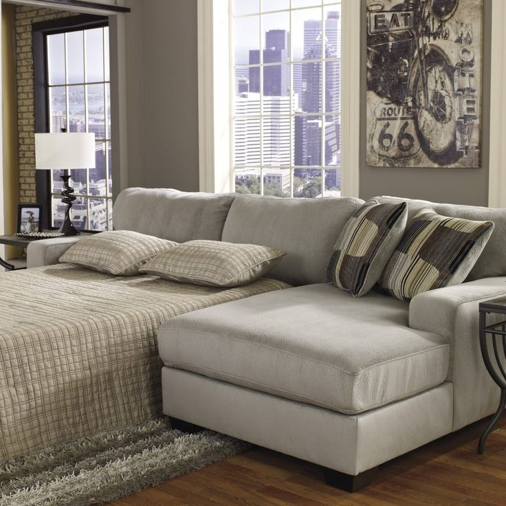 Leather Sleeper Sectional Sofa With Chaise