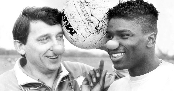 Manager Graham Taylor and Tony Daley support Red Nose Day