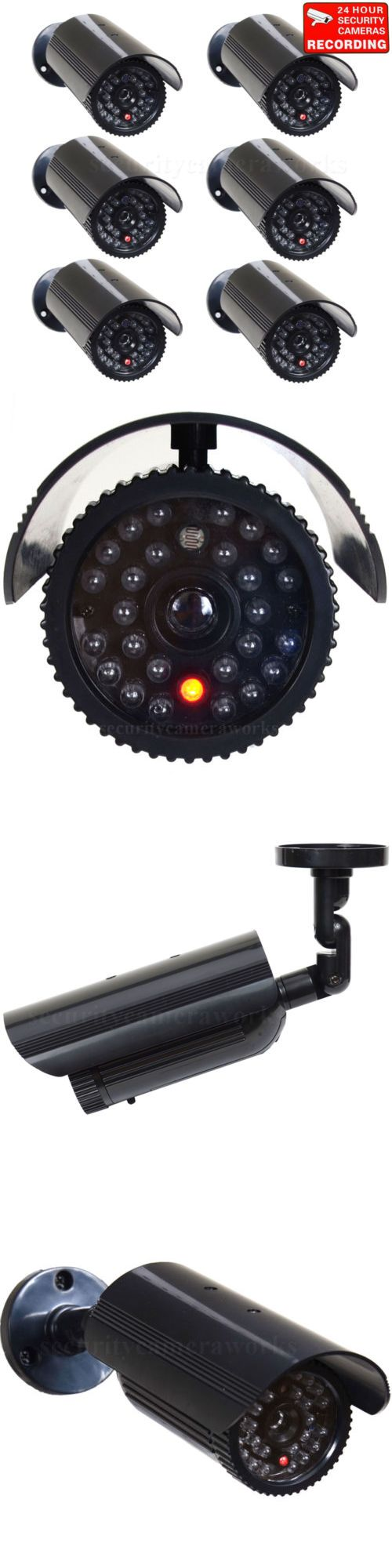 Dummy Cameras: 6X Dummy Security Camera Fake Infrared Leds Flashing Light Home Surveillance Bfj -> BUY IT NOW ONLY: $55.9 on eBay!