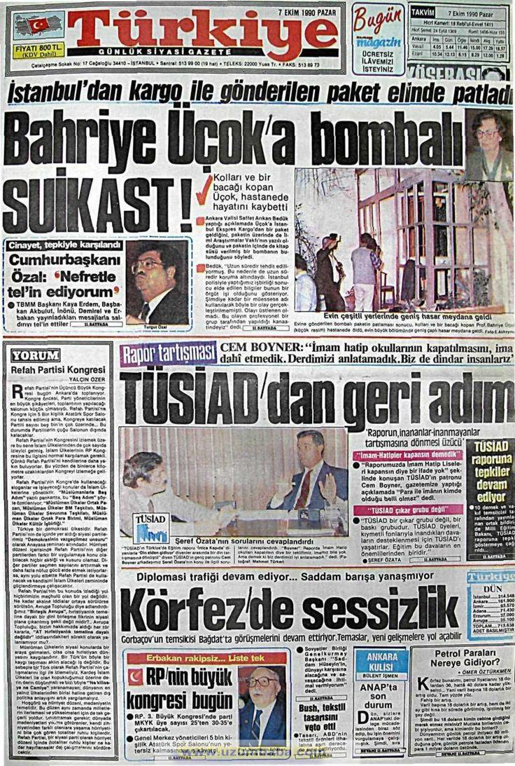 Tercüman gazetesi 7 ekim 1990