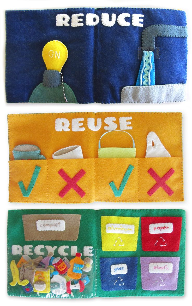 Recycling Quiet Book Set, great for older kids.