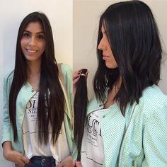 """""""A versatilidade também define bem essa tendência. Adoro esse tipo de mudança, cabelo com base bem estrutura é um leve repicado define esse novo hit do…"""""""