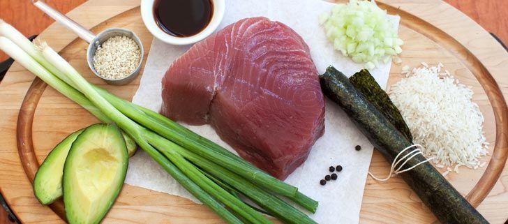 Los ingredientes del sushi
