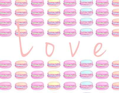 "Check out new work on my @Behance portfolio: ""Love Macaroons"" http://on.be.net/1IFJSqD"