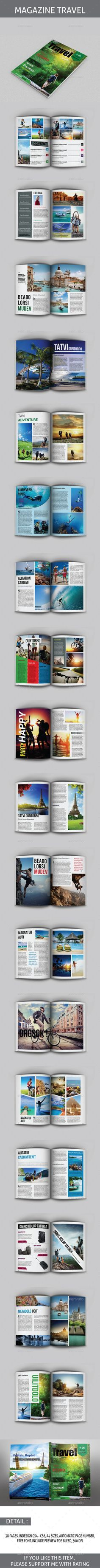 """Travel Magazine Template — InDesign INDD <a class=""""pintag"""" href=""""/explore/design/"""" title=""""#design explore Pinterest"""">#design</a> <a class=""""pintag"""" href=""""/explore/layout/"""" title=""""#layout explore Pinterest"""">#layout</a> • Available here → <a href=""""https://graphicriver.net/item/travel-magazine-template/8779120?ref=pxcr"""" rel=""""nofollow"""" target=""""_blank"""">graphicriver.net/...</a>"""