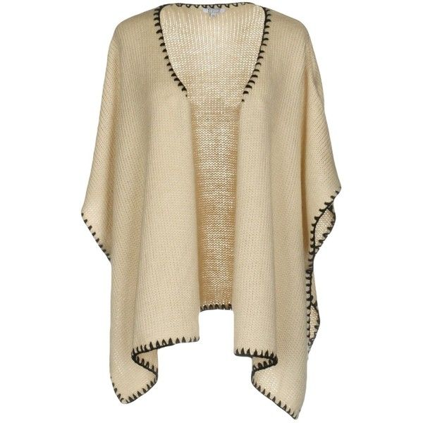 Brigitte Bardot Cloak (€70) ❤ liked on Polyvore featuring tops, beige, brown cape and cape coat
