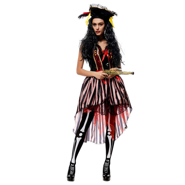 ハロウィン ブラウン 海賊 パイレーツ 女性用 コスチューム パイレーツ・オブ・カリビアン コスチュームコスプレ