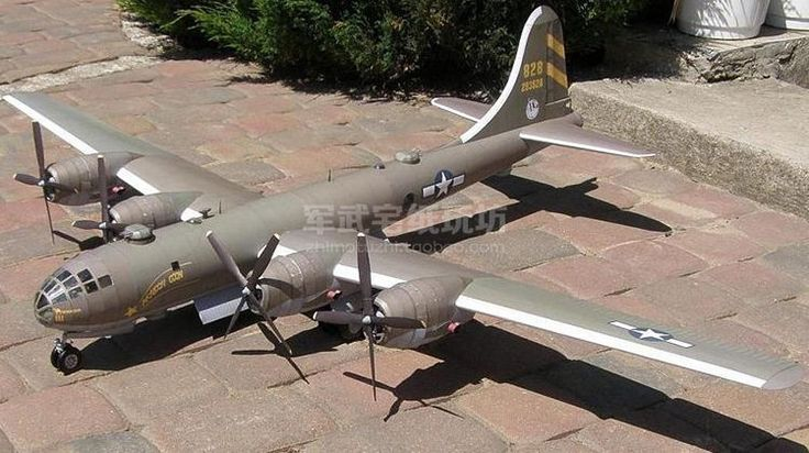 US B29 Superfortress Bomber Paper Craft 1:48 airplane Model #PHOTIPONG