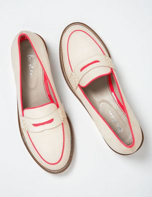 Penny loafers are a staple in my wardrobe. Comfortable & stylish for work or traveling. | @BodenClothing