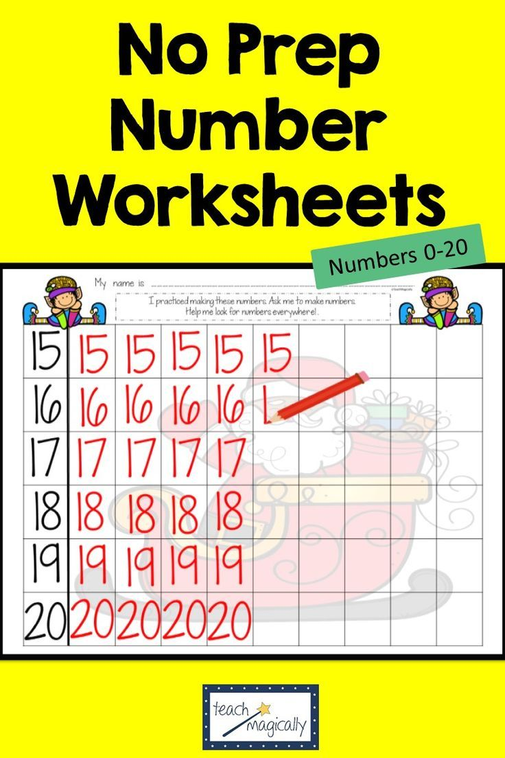 Math Number Writing Practice 1 20 Worksheets Christmas No Prep Writing Practice Number Writing Practice Writing Numbers [ 1104 x 736 Pixel ]