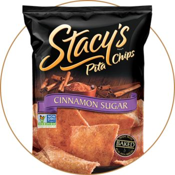 A delightful twist on traditional apple pie. The sweet goodness of apples and crunch of Stacy's® Cinnamon Sugar Pita chips makes for a perfect dip to serve any time of the year, warm or cold.