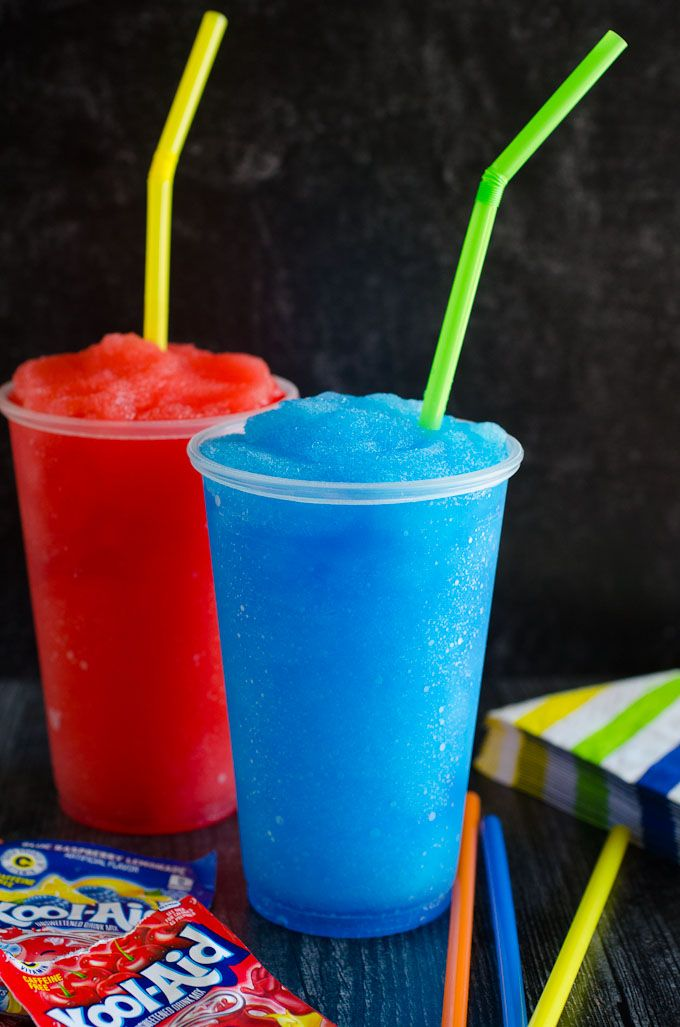 Learn How To Make A Slushie In Your Blender At Home With Just 4 Ingredients This Homemade Slushie Recipe Using Kool Slushie Recipe Homemade Slushies Slushies