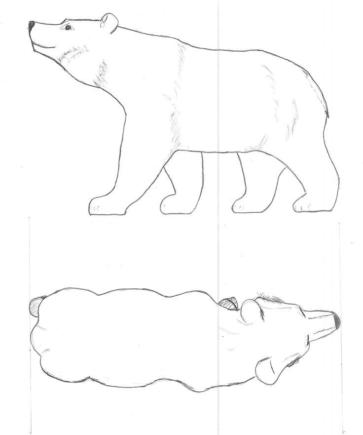 bear pattern outline