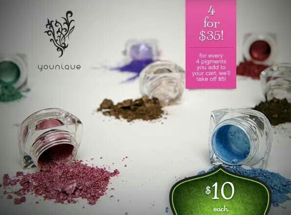Moonstruck Pigments What are the uses you ask? #1 use eye shadow Love love love our mineral pigments and mates. Especially when I use them with rosewater.  They stay put all day!! https://www.youniqueproducts.com/michellethompson/business/presenterinfo