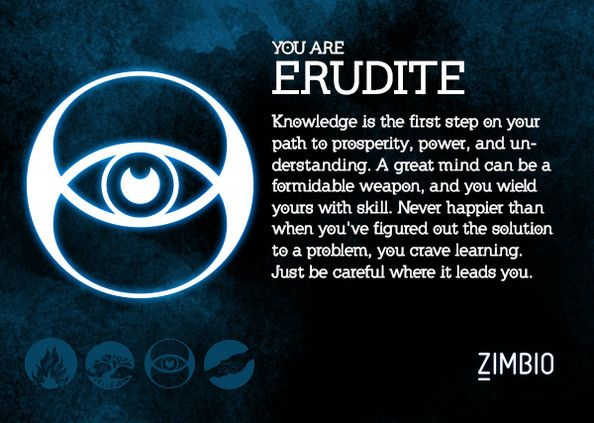 Zimbio has a Divergent Faction quiz! I apparently belong in Erudite(: --KittyJustine