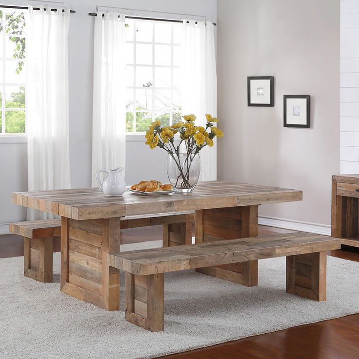 Bring A Rustic Feel To Your Dining Room Or Veranda With This Pine Dining  Table.