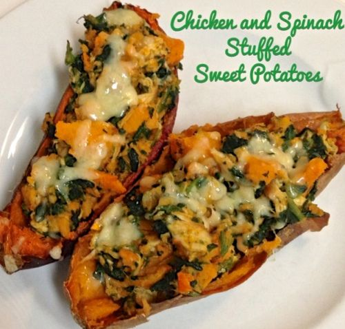 chicken and spinach stuffed sweet potatoes | cooking from the heart