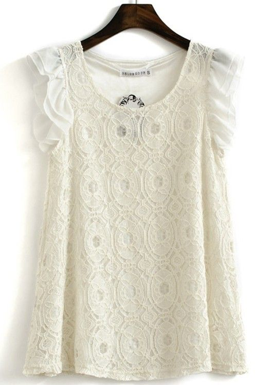 White lace. Flirty. Fun. Adorable with shorts.