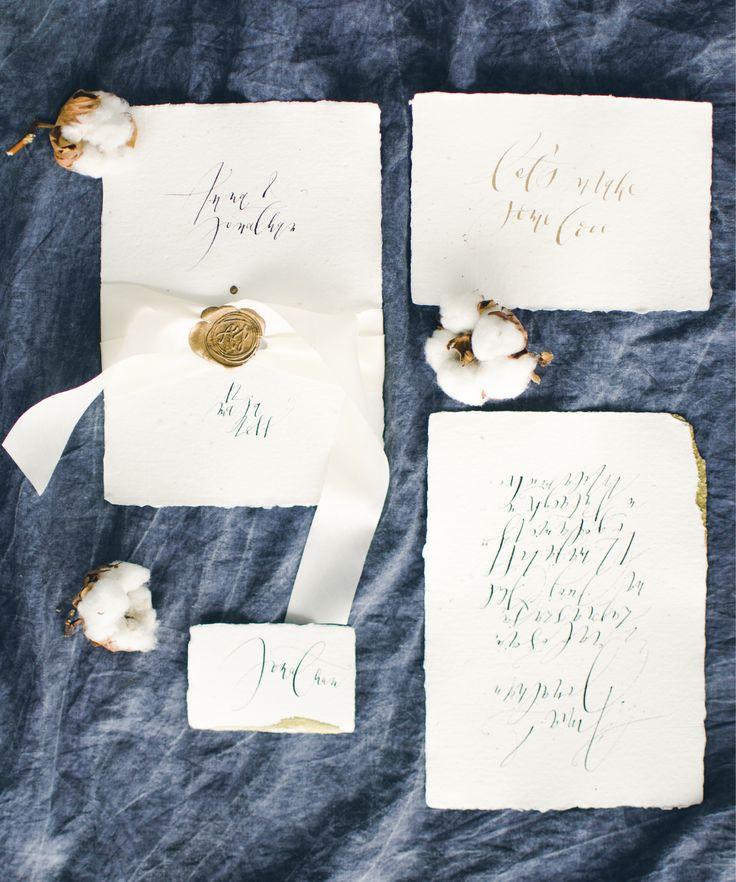 invitation set by Hello calligraphy