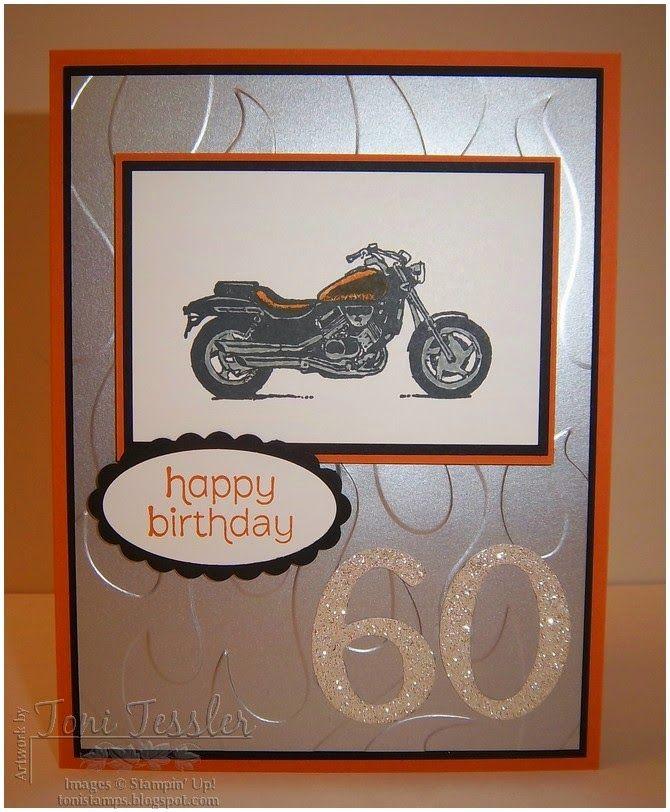 Stampin' Up Harley-Davidson-ish birthday card