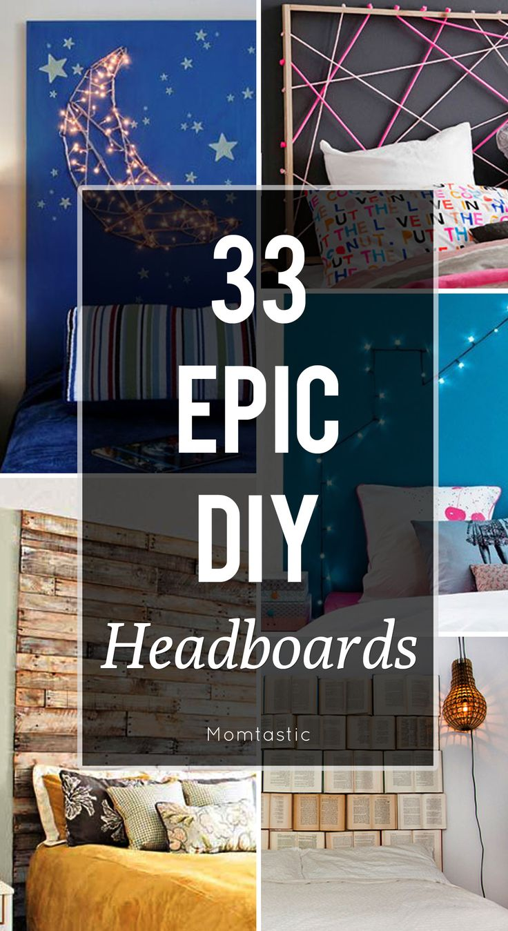 These DIY headboard ideas are so easy, anyone call pull them off!  #7 would be perfect for kids rooms.