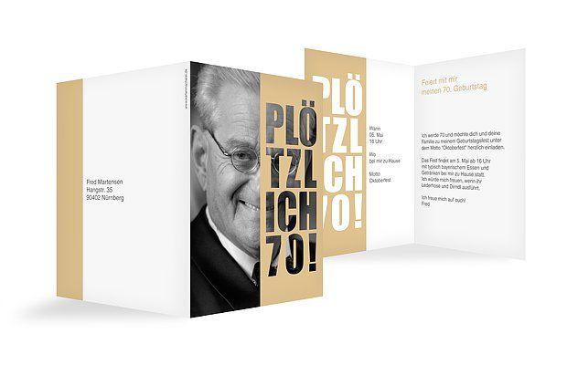 Einladungskarten 70 Geburtstag Plotzlich Einladung Geburtstag