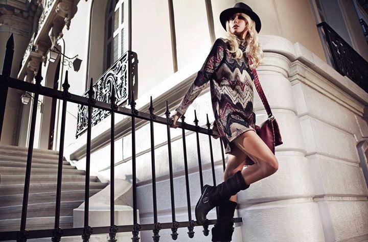 "Fw1516 Boudoir (www.boudoir-shop.com) campaign.  Jumper dress from H-ēra FW1516 ""Urban Souls"" Collection  More @ www.h-era.com"