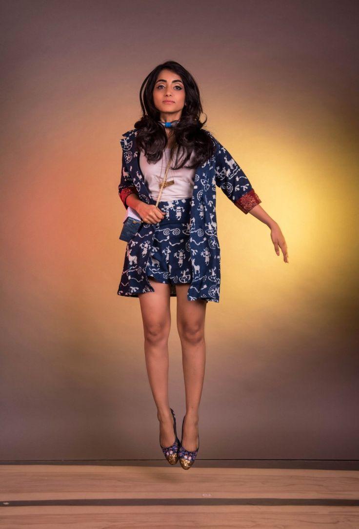 Indigo Blue Tribal Print Shorts & Blazer Buy this from : https://www.instamojo.com/storeuntold/indigo-blue-tribal-print-shorts-blazer/