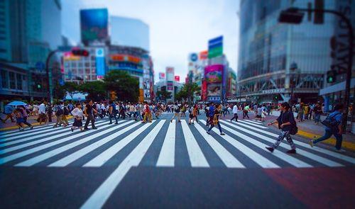 渋谷のスクランブル交差点(チルトシフト)