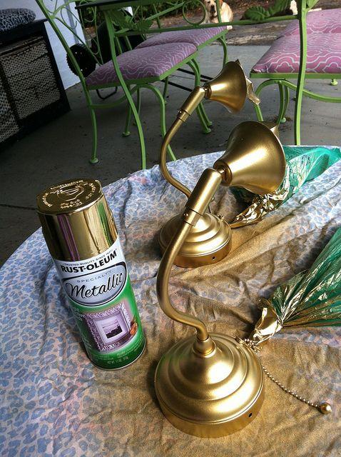Best Gold Spray Paint Via Belladwella Best Gold Spray Paint Spray Paint Wall Gold Spray Paint