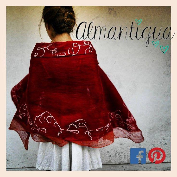 """Almantigua es una empresa que se especializa en el arte y confección de productos en base a un elemento principal """"vellón de lana"""""""