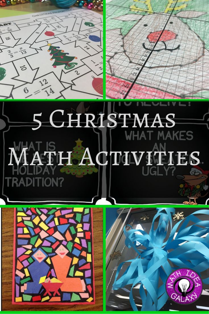 Christmas Math Activities: 5 Ideas for the Week Before Winter Break