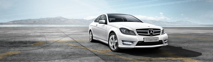 Mercedes Benz C-Class C250 Coupe 2013 Polar White. Actually, I get this for myself this Christmas. NEW JOB AROUND THE CORNER!