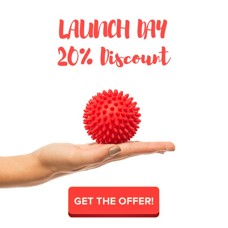 Massage Ball With Spikes For Plantar Fasciitis And Feet Back Hand Neck Glutes Pain + 17 Online Massage Video For Pain Relief And Relaxation