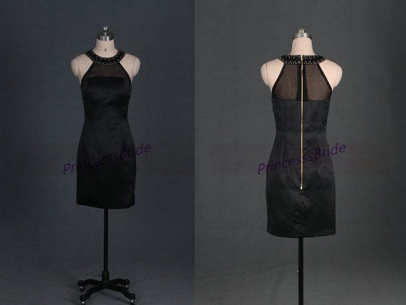 2015 sexy short black satin prom dresses in stock,unique sheathy women dress in handmade,cheap gowns for party hot.