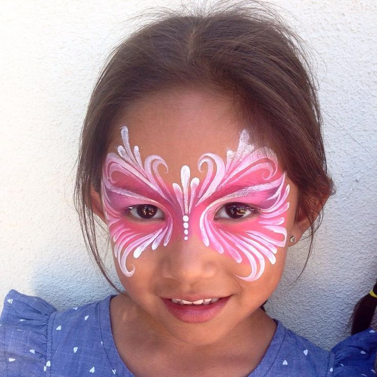81 best ronnie mena face paint images on pinterest face for Fairy painting easy