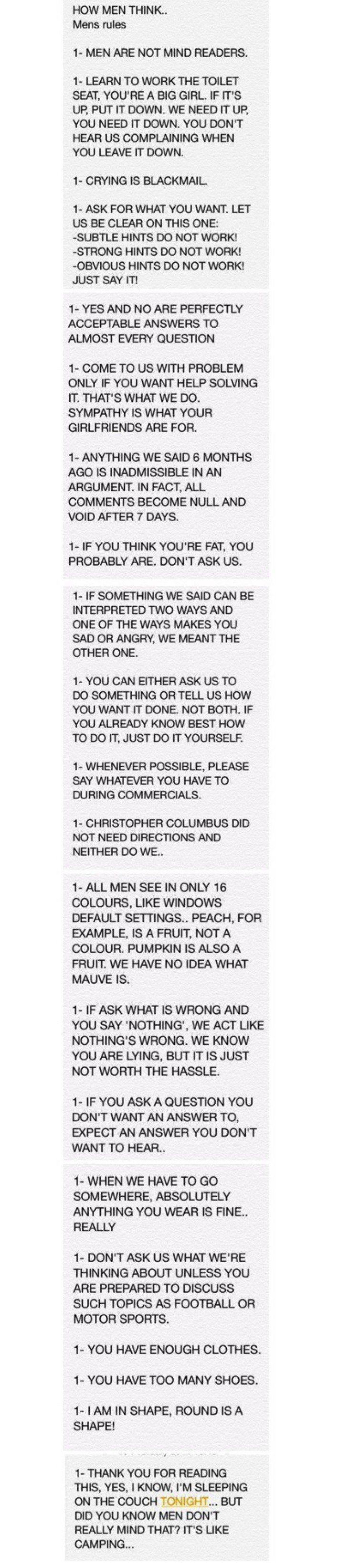 21 rules men have
