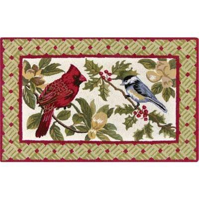 Holiday Birds Hooked Rug 2u0027 ...