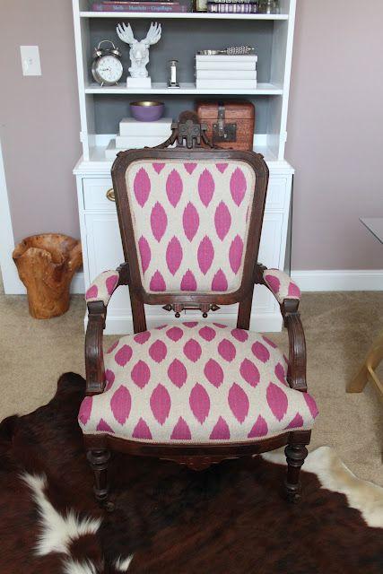 A no-sew reupholstery job! Love it.