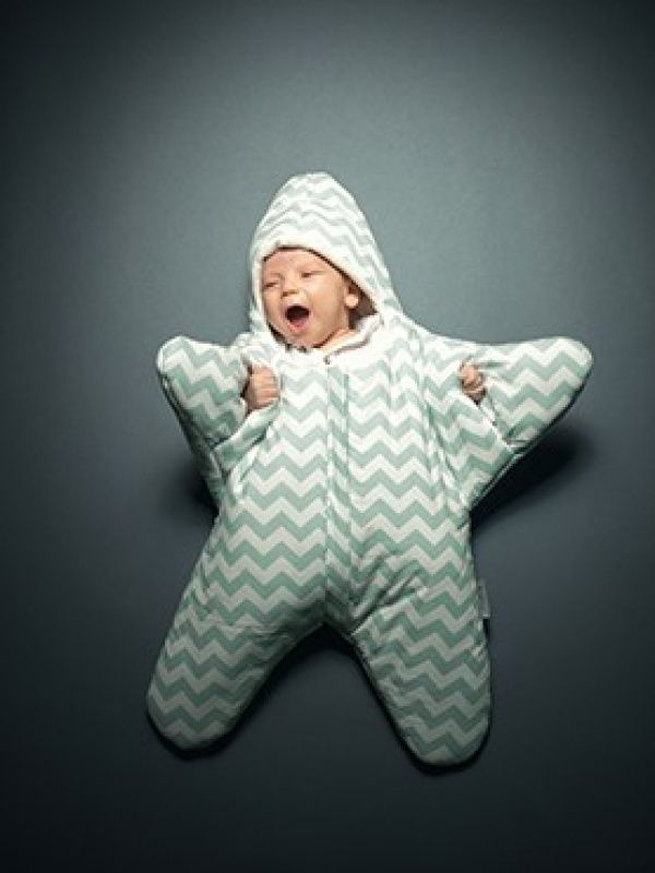Epik-Shop | Baby Bites Sleeping Bag (Blue Chevron)